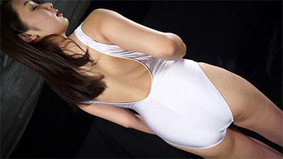 葵千恵 競泳水着 白水